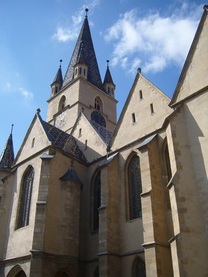 kościół ewangelicki Sibiu obrazy royalty free