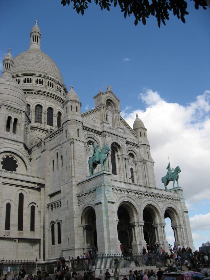 kościół fasadowy sacre coeur Paryża obrazy royalty free