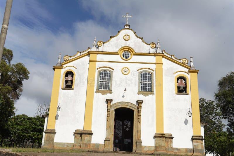 kościół fasadowy santissima tiradentes trindade zdjęcia royalty free