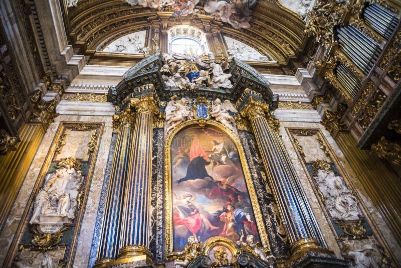 Kościół Gesu w Corso Vittorio Emanuel 2 w Rzym Włochy fotografia royalty free
