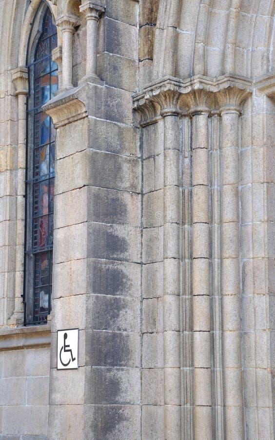 Kościół Graweruje Część ścianę Obrazy Stock