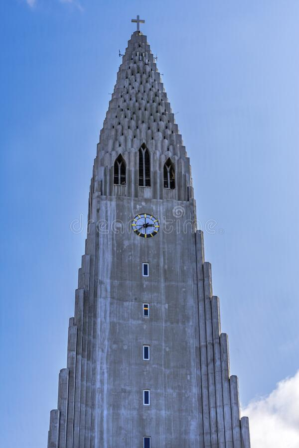 Kościół Hallgrimskirkja Reykjavik Islandia zdjęcia royalty free