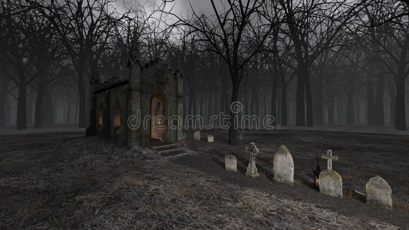 Kościół i grób ilustracji