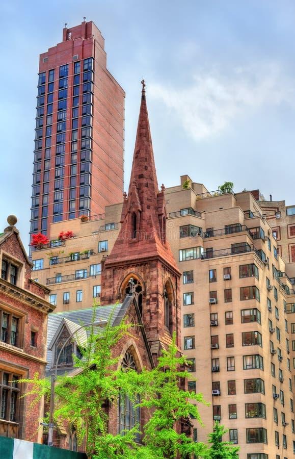 Kościół inkarnacja, historyczny kościół episkopalny w Manhattan, Miasto Nowy Jork fotografia royalty free