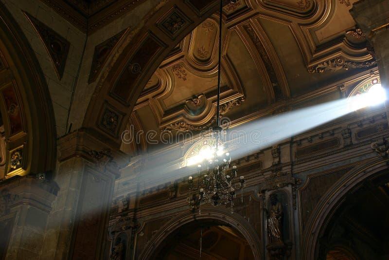 kościół jest lightbeam zdjęcia stock