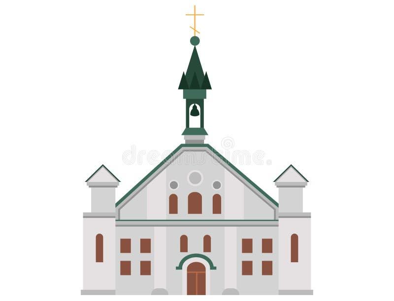 Kościół Katolicki dla człowieków praktykujących i religijnych ludzi royalty ilustracja