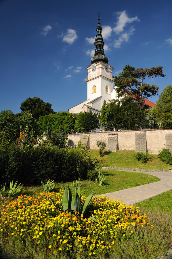 kościół katolicki mesto nad nove miasteczka vahom obraz royalty free