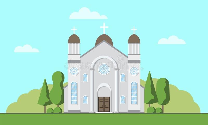 kościół katolicki powierzchowność Chrześcijańskiej tradycyjnej religii świątynny budynek Katolicki cześć miejsce ilustracji