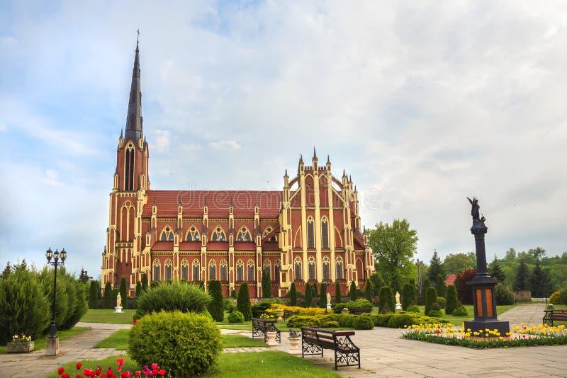 Kościół Katolicki w Gervyaty, Grodno region, Białoruś obrazy stock