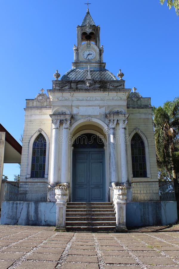 Kościół Katolicki w Santa Teresa Brazylia fotografia royalty free
