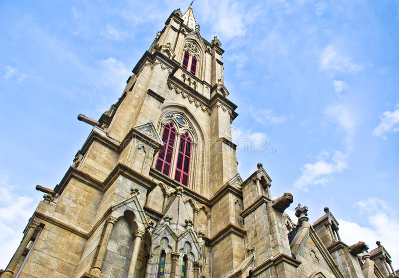 kościół katolicki wierza stylu wierza zdjęcie royalty free