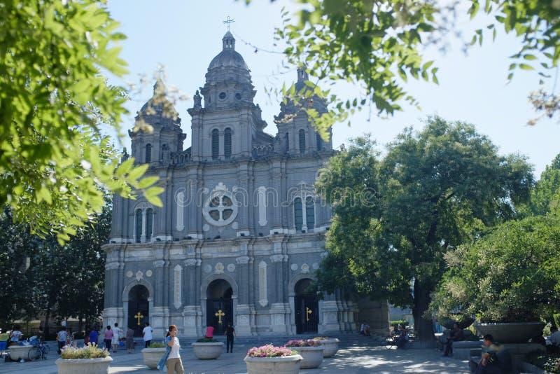 Kościół Katolik Chrch Wangfujing kościół zdjęcie royalty free