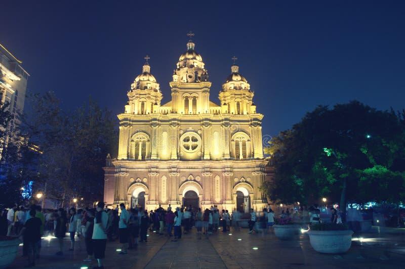 Kościół Katolik Chrch Wangfujing kościół St Joseph ` s kościół obraz royalty free