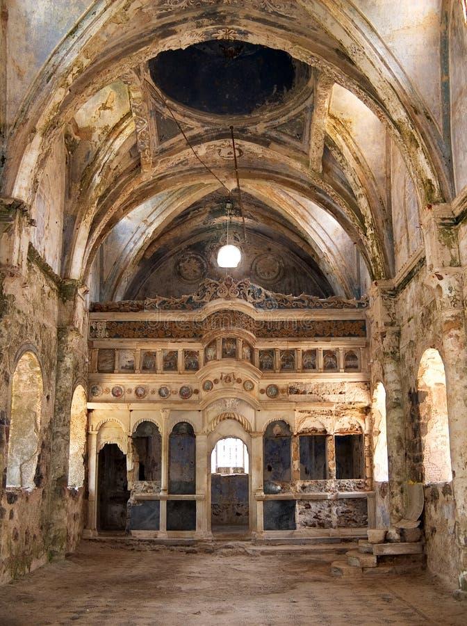 kościół kayakoyu zdjęcie royalty free
