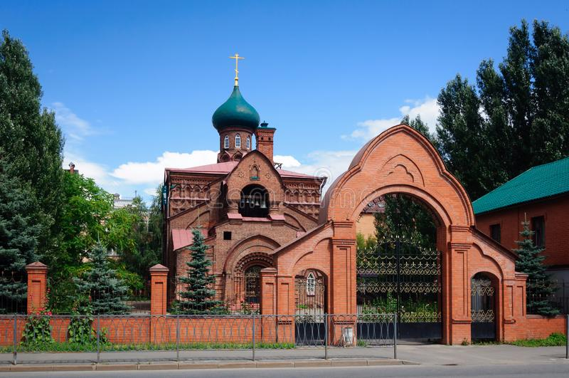 Kościół Kazan ikona Błogosławiona dziewica, Prawosławny stary wierzącego kościół, Kazan zdjęcie royalty free