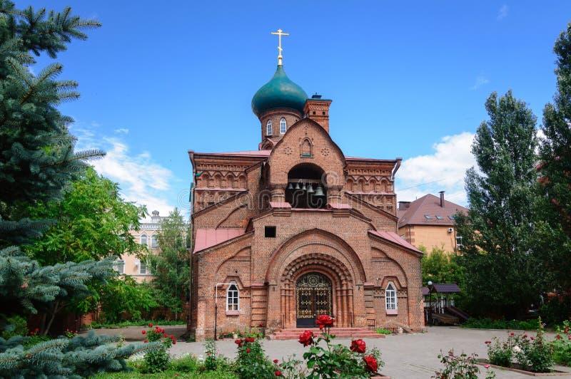 Kościół Kazan ikona Błogosławiona dziewica, Kazan, Rosja obrazy royalty free