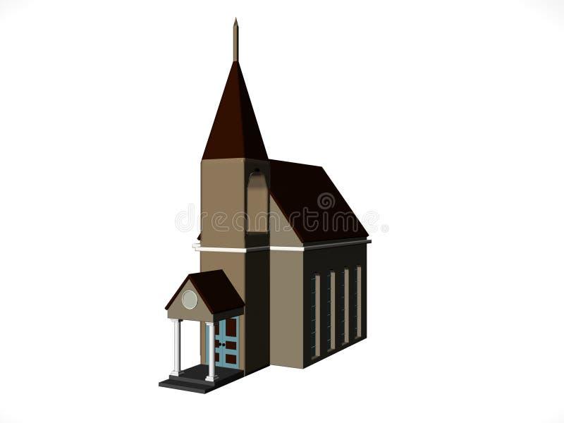kościół komiks. royalty ilustracja