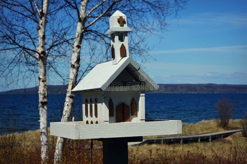 Kościół Kształtujący ptaka dom fotografia stock