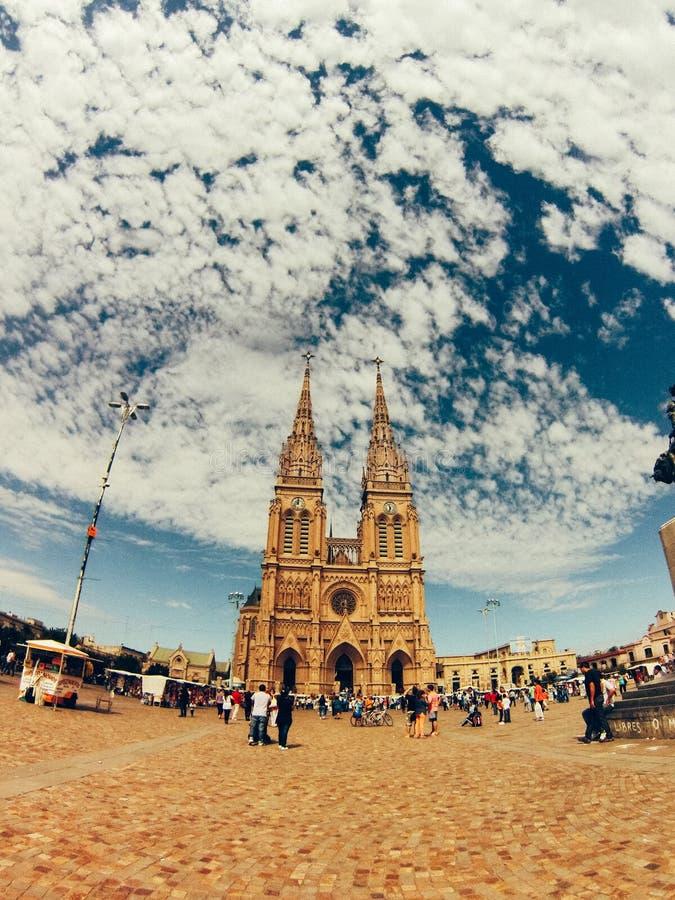 Kościół Lujan zdjęcie royalty free