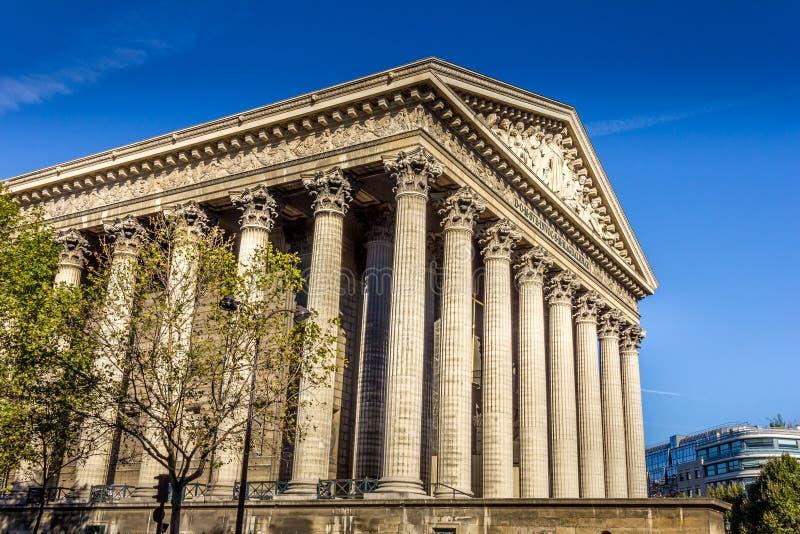 Kościół Madeleine w Paryżu fotografia royalty free