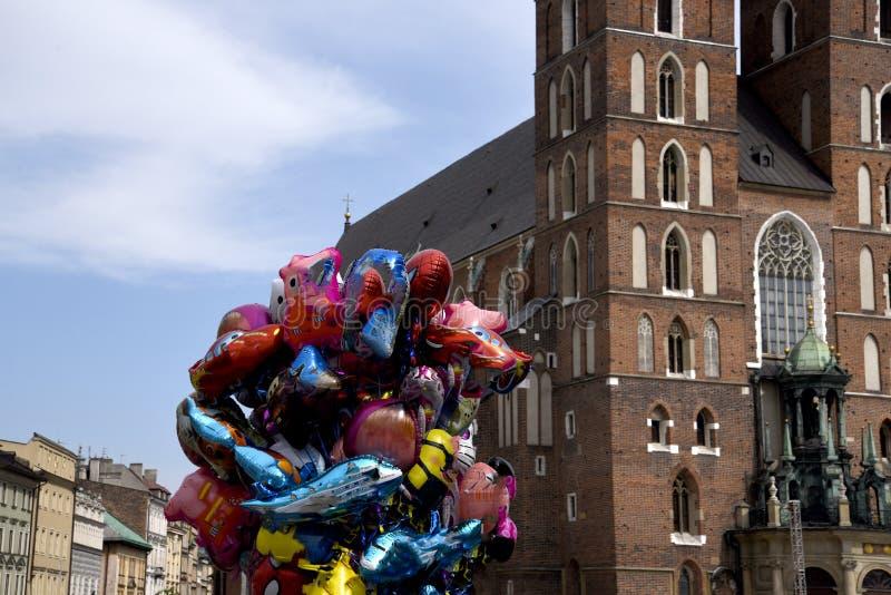 Kościół Mariacki lub St Marys kościół w Krakow Polska obrazy royalty free