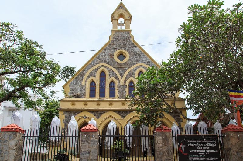 Kościół Metodystów - fort Galle, Sri Lanka obrazy stock