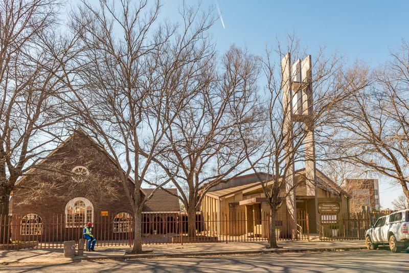 Kościół Metodystów w Vereeniging w Gauteng prowinci obraz royalty free