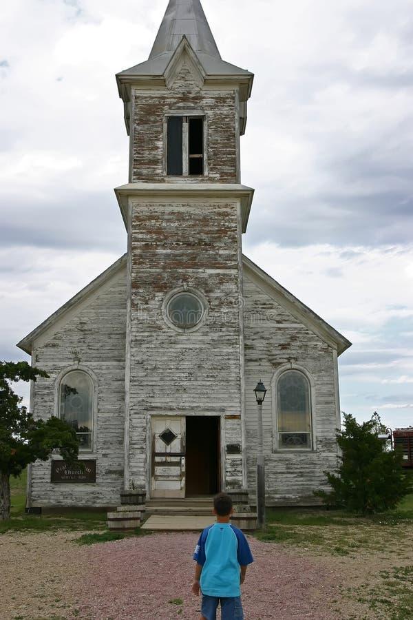 kościół miasto duchów zdjęcie royalty free