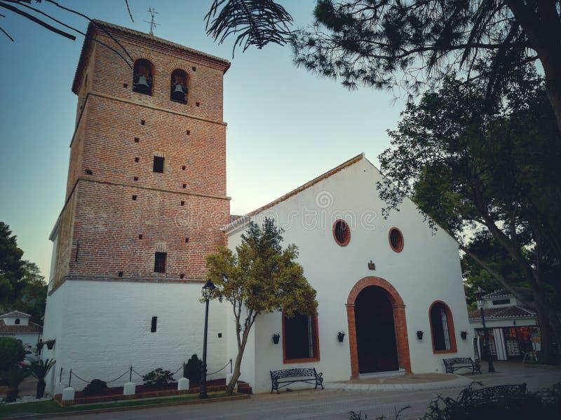 Kościół Mijas wioska zdjęcia royalty free