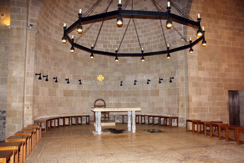 Kościół mnożenie bochenki ryba i, Tabgha, Izrael zdjęcie stock