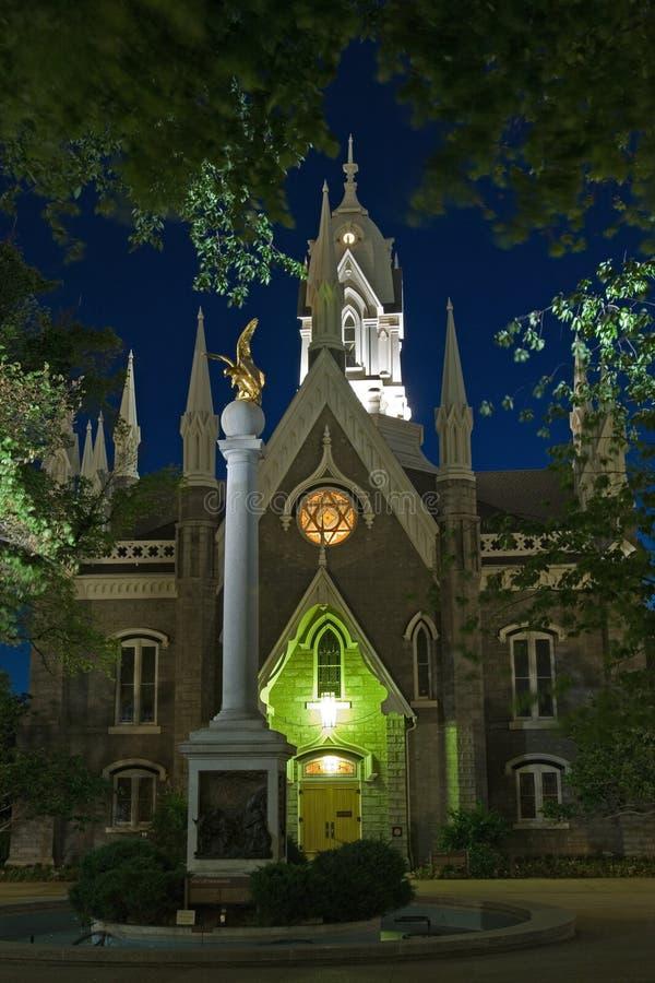 kościół monument mewy mormon obraz royalty free