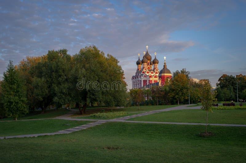 Kościół moskiewski ikony Tichvina matki bożej obrazy stock
