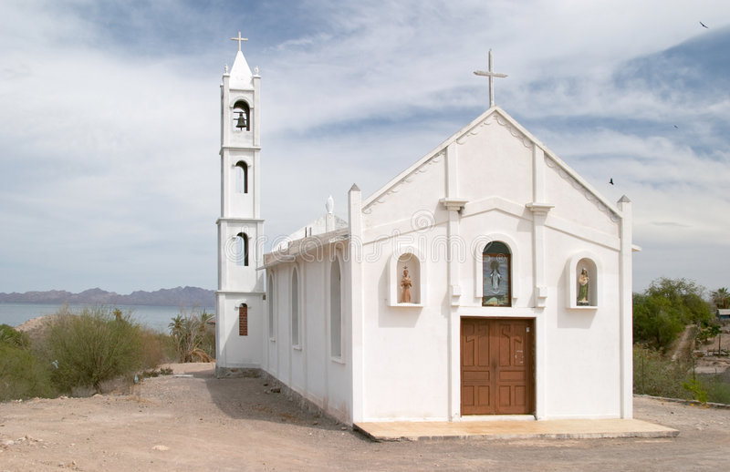 kościół mulege white zdjęcia stock