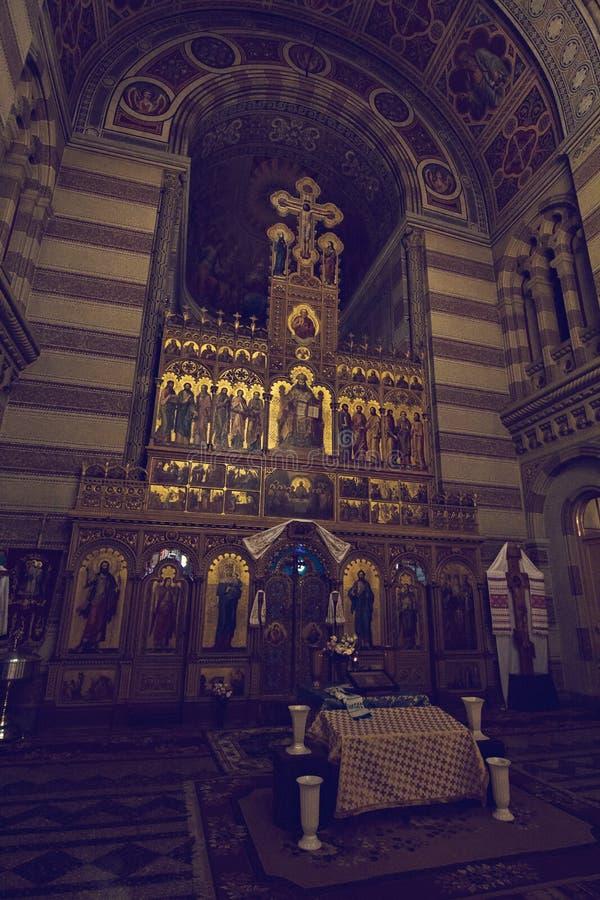 Kościół na terytorium Chernivtsi uniwersytet zdjęcia stock