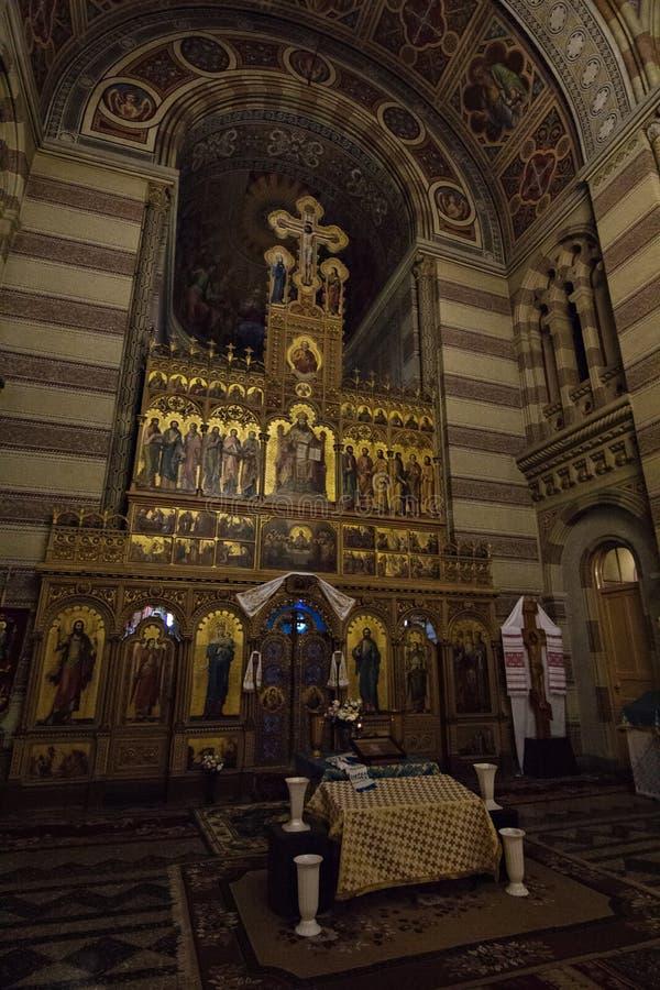 Kościół na terytorium Chernivtsi uniwersytet obrazy royalty free