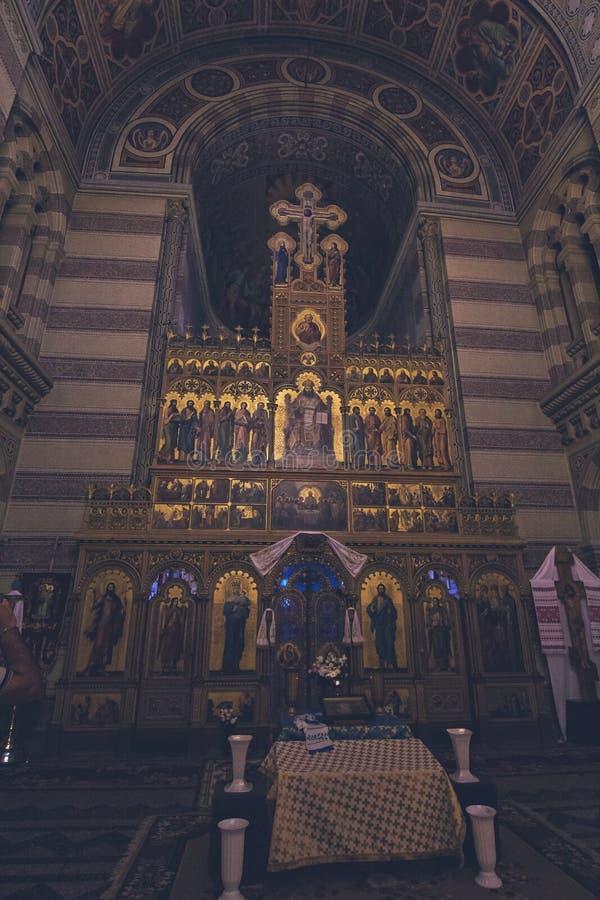 Kościół na terytorium Chernivtsi uniwersytet fotografia stock