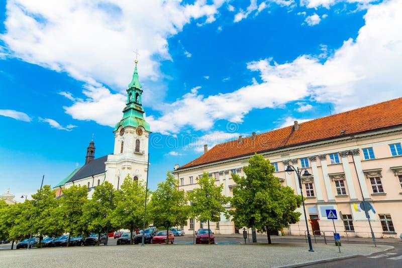 Kościół Najświętszej Maryi Panny w Kaliszu, Polska zdjęcie stock