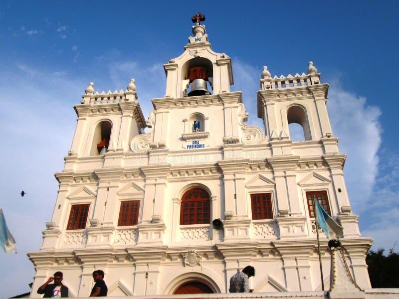 Kościół Nasz dama Niepokalany poczęcie w Panaji obrazy royalty free