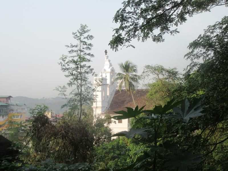 Kościół Nasz dama Niepokalany poczęcie w Panaji fotografia stock