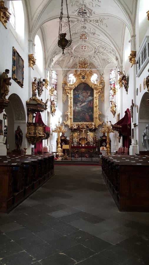 Kościół Nasz dama pod łańcuchem, Praga obrazy royalty free