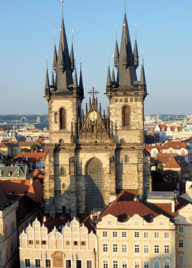Kościół Nasz dama przed Tyn, Stary rynek, Praga zdjęcia stock