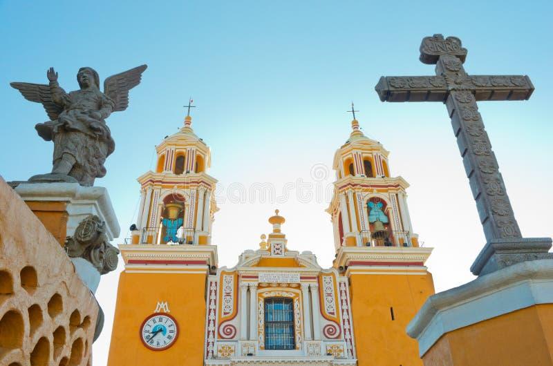 Kościół Nasz dama remedia w Cholula Meksyk obrazy royalty free