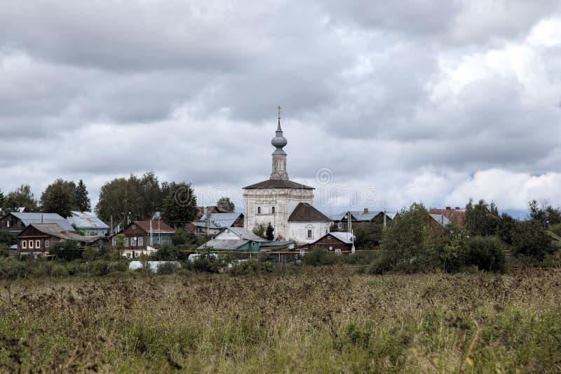 Kościół Nasz dama Tikhvin Suzdal obraz royalty free
