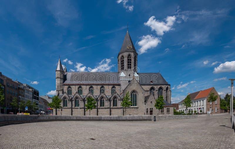 Kościół Nasz dama w «Deinze Belgia obraz royalty free