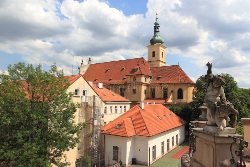 Kościół Nasz dama Zwycięska w Praga zdjęcia royalty free
