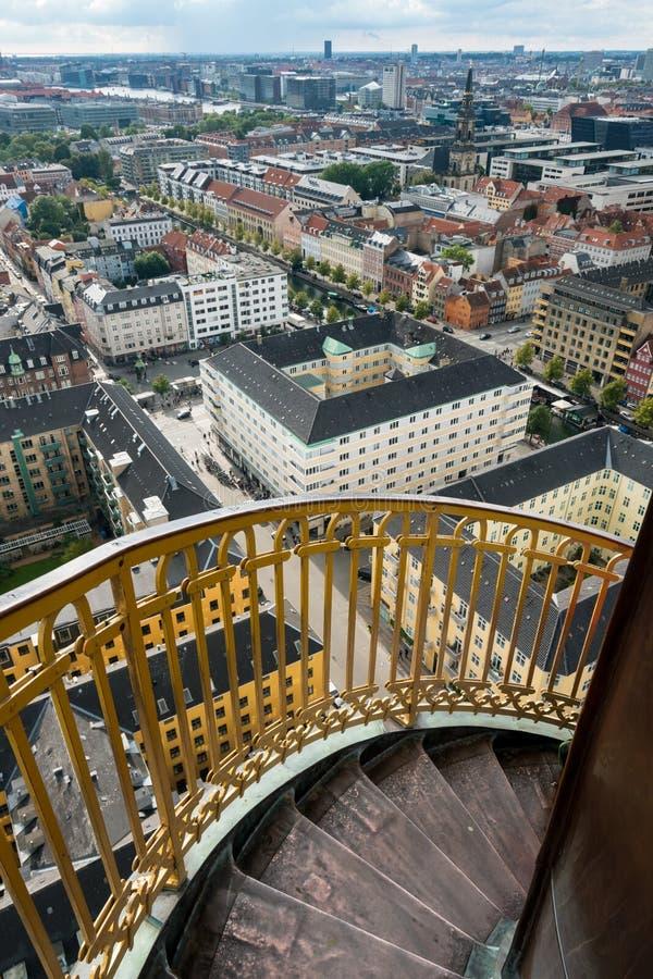 Kościół Nasz wybawiciel w Kopenhaga, Dani obraz stock
