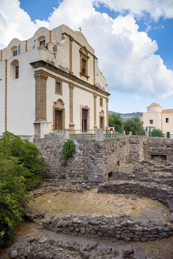 Kościół Niepokalany w Lipari obrazy royalty free