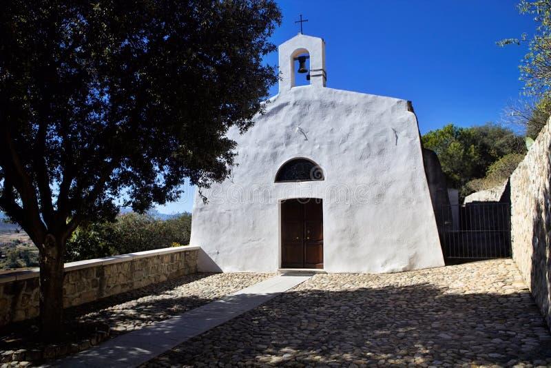 Kościół Nostra Del Signora del Soccorsa - xvi wiek, Sardin zdjęcie royalty free