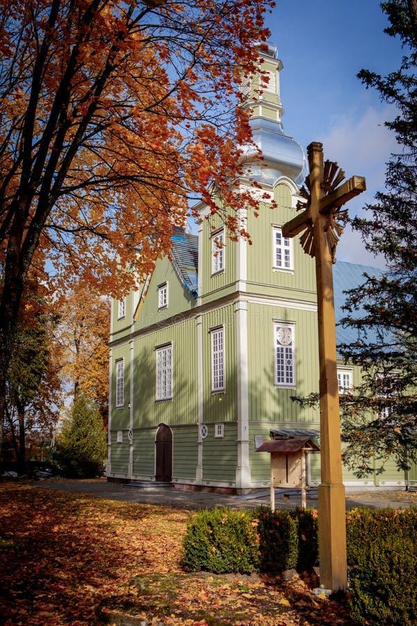 Kościół objawienie Chrystus w Prienai zdjęcie stock