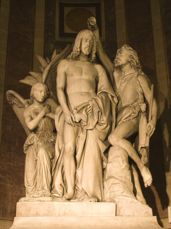 kościół ochrzczenia Madeleine jeusus Paryża zdjęcia royalty free